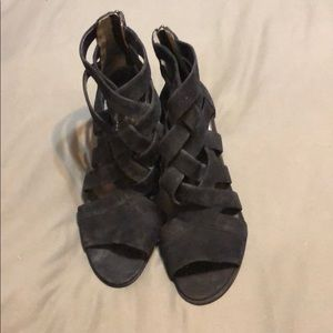 Black Suede Kenneth Cole heels